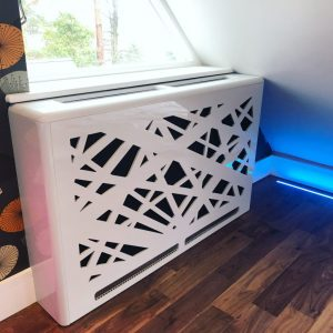 modern medium radiator cabinet under window