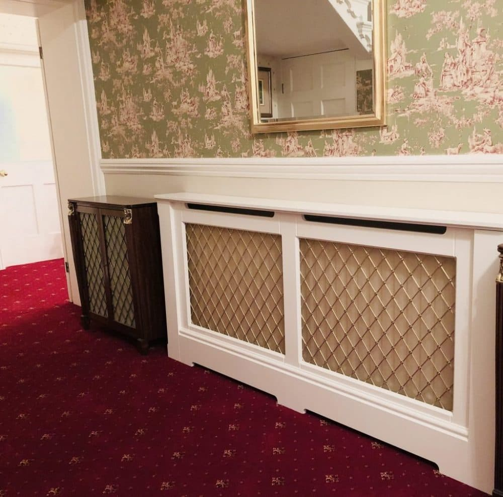 Best Radiator Covers with brass regency grille in corridor
