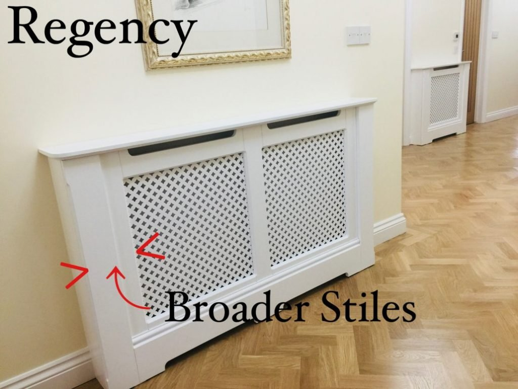 Regency have broader stiles.