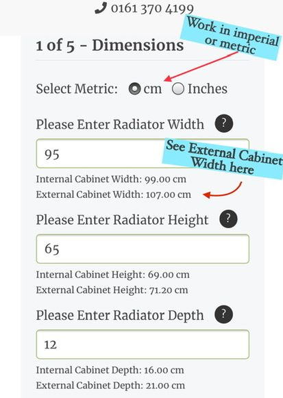 Measuring for Radiator Cabinets