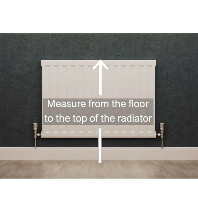 Find the height of the radiator cabinet